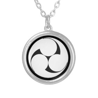 The left three-sided crest (sketch coming) silver plated necklace
