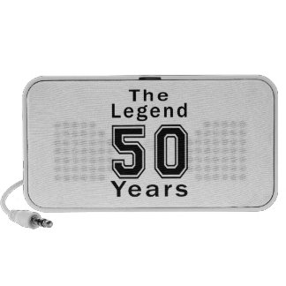 The Legend 50 Years Birthday Gifts PC Speakers