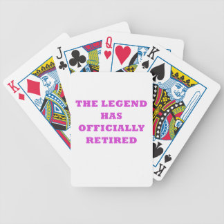 The Legend has Officially Retired Bicycle Playing Cards