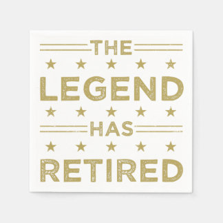 The Legend Has Retired Napkin
