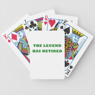 The Legend Has Retired Poker Deck