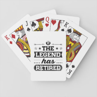 The Legend Has Retired Poker Deck