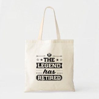 The Legend Has Retired Tote Bag