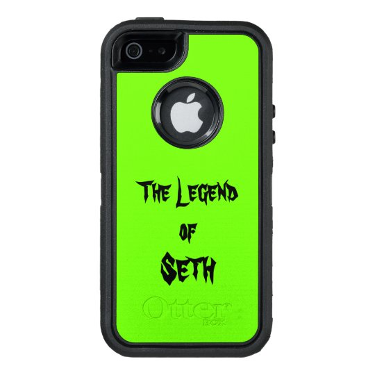 The Legend Of Add Your Name Lime Green OtterBox iPhone 5/5s/SE Case