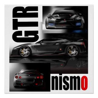 The Legendary Supercar GTR Godzilla Poster