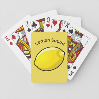 The lemon squads very own playing card deck