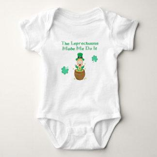 The Leprechauns Made Me Do it Baby Bodysuit