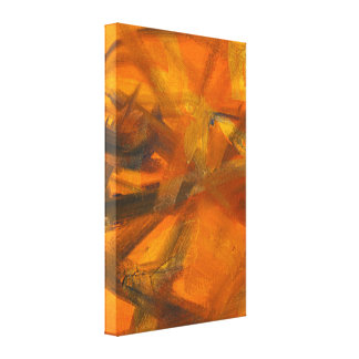 The Letter A Text-based Abstract Painting Canvas Print
