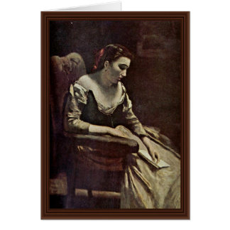 The Letter By Corot Jean-Baptiste-Camille (Best Qu Card