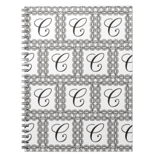 THE LETTER   ***C*** MONOGRAMED NOTEBOOK
