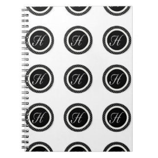 THE LETTER   ***H*** MONOGRAMED NOTEBOOK