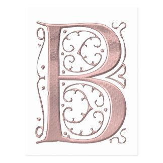 The Letter Initial Monogram B Postcard