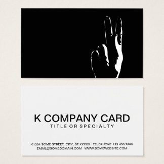 the letter K in sign language Business Card
