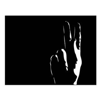the letter K in sign language Postcard