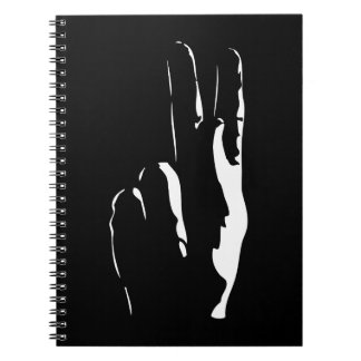 the letter K in sign language Spiral Notebook