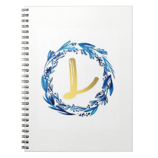 THE LETTER   *L *  MONOGRAMED NOTEBOOK