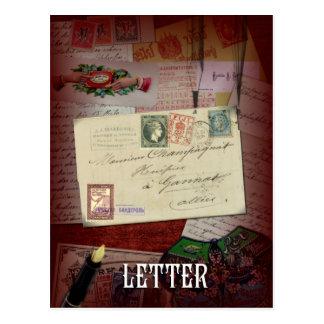 """The Letter"" Lenormand Postcard"
