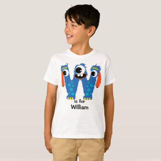The Letter W Monster Alphabet Personalize T-Shirt