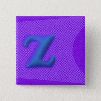 The Letter Z Square Button