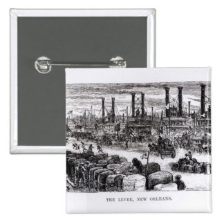 The Levee, New Orleans 2 Inch Square Button