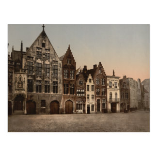 The Library, Bruges, Belgium Postcard