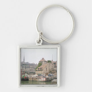 The Lieutenance Silver-Colored Square Keychain