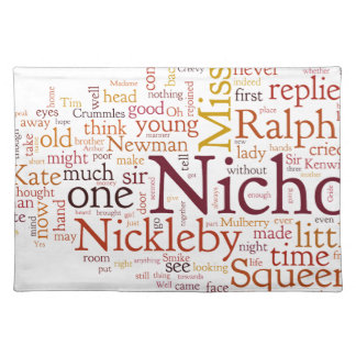 The Life and Adventures of Nicholas Nickelby Placemat