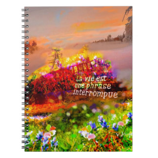 The life is a cut sentence. notebooks