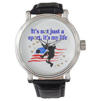 THE LIFE OF A USA SOCCER PLAYER DESIGN WRIST WATCHES
