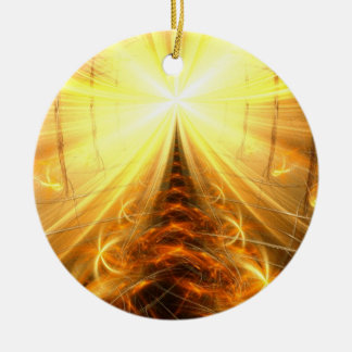 The Light at the End of the Tunnel Round Ceramic Ornament
