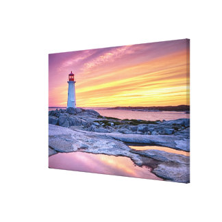 The Light Keeper | Peggy'S Cove Canvas Print