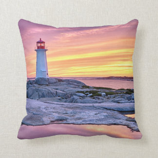 The Light Keeper | Peggy'S Cove Throw Pillow