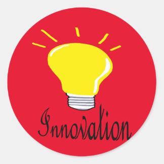 the light of innovation classic round sticker