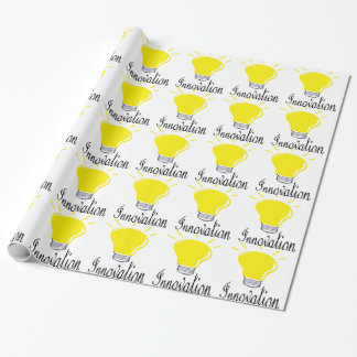 the light of innovation wrapping paper