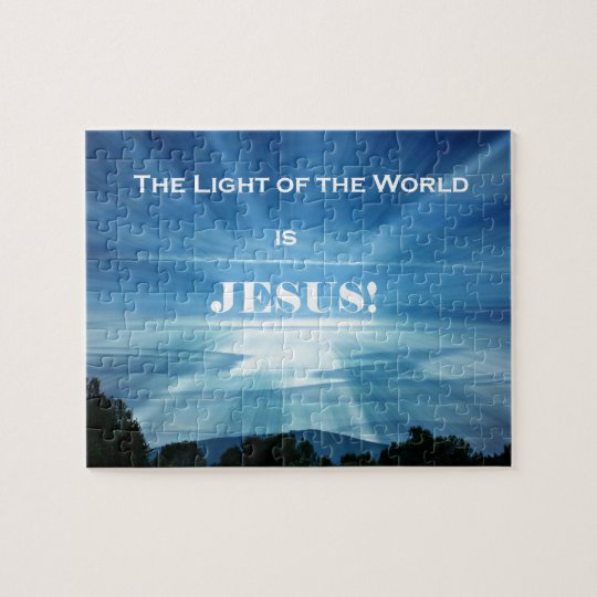 The Light of the World is Jesus. Jigsaw Puzzle