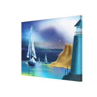"""""""The Lighthouse"""" Art on Canvas"""