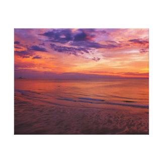 The Lighthouse At Sunrise Canvas Print