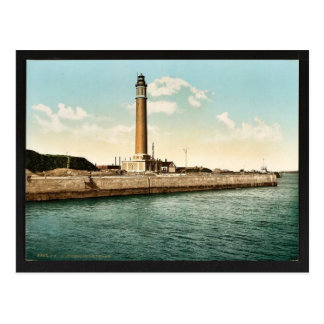 The lighthouse, Dunkirk, France vintage Photochrom Postcard