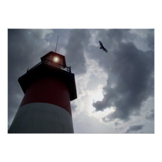 The Lighthouse Stormy skies Mount Dora Florida Art Poster