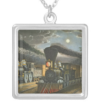 The Lightning Express Trains, 1863 Silver Plated Necklace