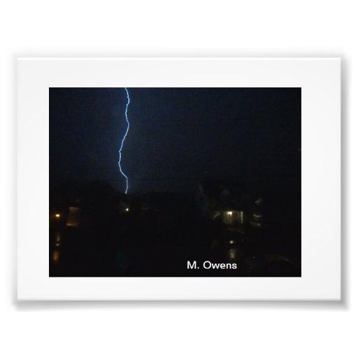 The lightning Power of God! Art Photo