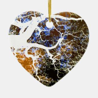 THE LIGHTNING TREE 2 CERAMIC HEART ORNAMENT