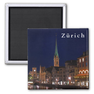 The lights of evening Zurich. Magnet
