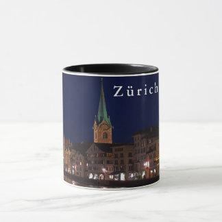 The lights of evening Zurich. Mug