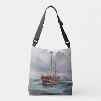 The lightship at Skagen Reef Personalize Crossbody Bag