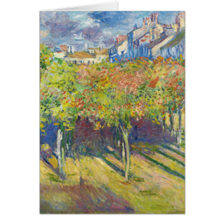The Lindens of Poissy by Claude Monet Card