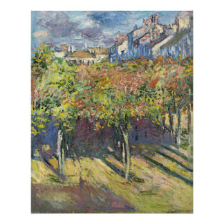 The Lindens of Poissy by Claude Monet Poster