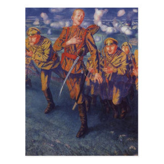 The Line of Fire by Kuzma Petrov-Vodkin Postcard