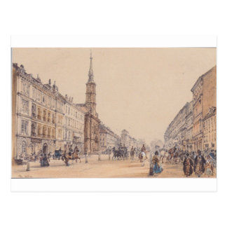 The line of Hunter in Vienna by Rudolf von Alt Postcard