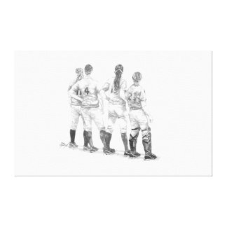 The Lineup Stretched Canvas Print